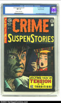 Golden Age (1938-1955):Crime, Crime SuspenStories #27 Gaines File pedigree 2/12 (EC, 1955) CGC NM- 9.2 Off-white to white pages. The final issue in the ru...