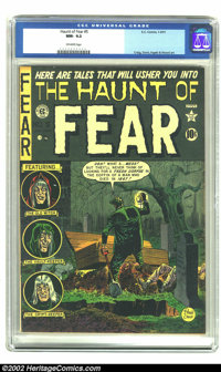 The Haunt of Fear #5 (EC, 1951) CGC NM- 9.2 Off-white pages. Johnny Craig only created a few covers for this title, incl...
