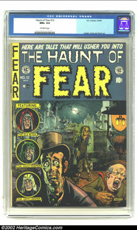 The Haunt of Fear #12 (EC, 1952) CGC NM+ 9.6 Off-white pages. Here's the rarest of rare; a Near Mint Plus E.C. that's no...