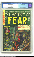 "Golden Age (1938-1955):Horror, The Haunt of Fear #18 (EC, 1953) CGC VF/NM 9.0 Off-white pages. Howdid this Ingels cover escape ""classic"" designation? This..."