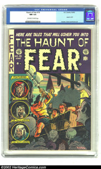 The Haunt of Fear #19 (EC, 1953) CGC NM 9.4 Off-white to white pages. A bondage/decapitation cover by Graham Ingels sets...