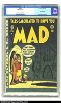Golden Age (1938-1955):Humor, Mad #1 (EC, 1952) CGC FN/VF 7.0 Cream to off-white pages. As far as collectors' demand and the resulting Overstreet value ap...