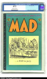 Mad #15 (EC, 1954) CGC NM- 9.2 Off-white to white pages. Even with all the high-grade Gaines File copies abounding, this...