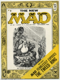 Mad #25 (EC, 1955) Condition: VF-. Al Jaffee begins as a regular writer in this the second magazine sized issue of Mad...