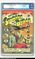 Golden Age (1938-1955):Religious, Picture Stories from the Bible Old Testament #4 Gaines Filepedigree Certificate Missing (DC, 1943) CGC NM 9.4 Off-white towh...