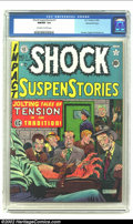 Golden Age (1938-1955):Horror, Shock SuspenStories #1 Gaines File pedigree 8/11 (EC, 1952) CGCNM/MT 9.8. Al Feldstein's classic electrocution cover launch...