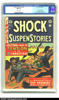 Golden Age (1938-1955):Horror, Shock SuspenStories #9 (EC, 1953) CGC NM 9.4 Off-white pages. Thehorrific cover is by Al Feldstein, who gets help from Wood...