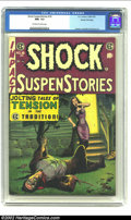 Golden Age (1938-1955):Horror, Shock SuspenStories #18 Gaines File pedigree 3/12 (EC, 1955) CGC NM- 9.2 Off-white to white pages. The last issue of a fanta...