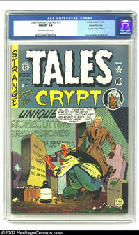 Tales From the Crypt #20 Gaines File pedigree Certificate Missing (EC, 1950) CGC NM/MT 9.8 Off-white to white pages. The...