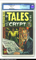 Golden Age (1938-1955):Horror, Tales From the Crypt #21 Gaines File pedigree 3/10 (EC, 1951) CGCNM/MT 9.8 Off-white pages. This incredible cover shows Al ...