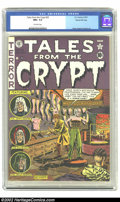 Golden Age (1938-1955):Horror, Tales From the Crypt #25 Gaines File pedigree 7/12 (EC, 1951) CGCNM+ 9.6 Off-white pages. Al Feldstein does one of his six ...