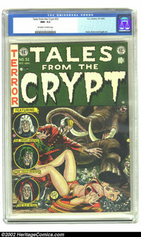 Tales From the Crypt #32 (EC, 1952) CGC NM- 9.2 Off-white to white pages. Looks like she's about to put its foot her in...