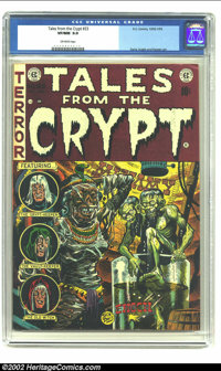 Tales From the Crypt #33 (EC, 1952) CGC VF/NM 9.0 Off-white pages. A minor dent at the top right front corner and corres...