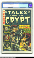 Golden Age (1938-1955):Horror, Tales From the Crypt #34 (EC, 1953) CGC NM- 9.2 Off-white to whitepages. Just a slightly mis-cut cover is the only defect v...