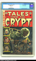 Golden Age (1938-1955):Horror, Tales From the Crypt #37 Gaines File pedigree 8/11 (EC, 1953) CGCVF/NM 9.0 Off-white pages. An undead zombie rises from his...