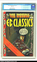 "Golden Age (1938-1955):Horror, Three Dimensional EC Classics #1 (EC, 1954) CGC VF- 7.5 Cream tooff-white pages. Overstreet warns us that this issue is ""ra..."