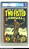 Golden Age (1938-1955):War, Two-Fisted Tales Annual #2 (EC, 1953) CGC VF 8.0 Off-white to white pages. Here is a book with an incredible Jack Davis cove...