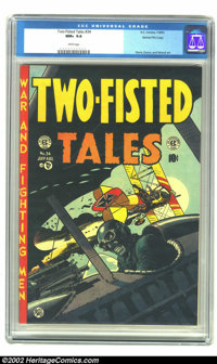 Two-Fisted Tales #34 Gaines File pedigree 8/11 (EC, 1953) CGC NM+ 9.6 White pages. Jack Davis' depiction of a WWI dogfig...