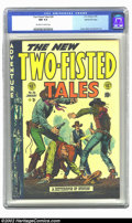Golden Age (1938-1955):War, Two-Fisted Tales #36 Gaines File pedigree 8/11 (EC, 1954) CGC NM9.4 Off-white to white pages. John Severin performed yeoman...