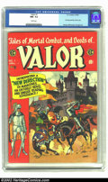 Golden Age (1938-1955):Adventure, Valor #1 (EC, 1955) CGC NM- 9.2 White pages. Just a super copy that ranks with the famous Gaines File copies in appearance a...