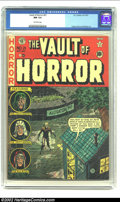 Golden Age (1938-1955):Horror, Vault of Horror #21 (EC, 1951) CGC NM 9.4 Off-white pages. JohnnyCraig's humor came through on many of his covers even as h...