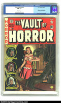 Golden Age (1938-1955):Horror, Vault of Horror #23 (EC, 1952) CGC NM 9.4 Off-white pages. While Johnny Craig's modus operandi was to leave the details of h...