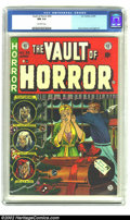 Golden Age (1938-1955):Horror, Vault of Horror #35 (EC, 1954) CGC NM 9.4 Off-white pages. On thisJohnny Craig cover the bright, rich colors, the spine, th...