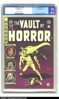 Golden Age (1938-1955):Horror, Vault of Horror #40 Gaines File pedigree (EC, 1954) CGC NM+ 9.6Off-white to white pages. Only two other copies of this scar...
