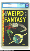 Golden Age (1938-1955):Science Fiction, Weird Fantasy 16 (#4) Gaines File pedigree 8/11 (EC, 1950) CGC NM-9.2 Off-white pages. This copy has the look of an even hi...