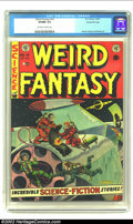 Golden Age (1938-1955):Science Fiction, Weird Fantasy #14 Gaines File pedigree 3/9 (EC, 1952) CGC VF/NM 9.0Off-white to white pages. Stylish artists Frank Frazetta...