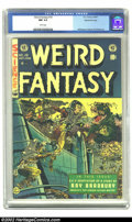 Golden Age (1938-1955):Science Fiction, Weird Fantasy #19 Gaines File pedigree Certificate Missing (EC,1953) CGC NM 9.4 White pages. Joe Orlando makes the most of ...