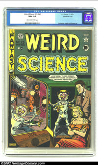 Weird Science 15 (#4) Gaines File pedigree 7/9 (EC, 1950) CGC NM+ 9.6 Cream to Off-white pages. Everything about this co...