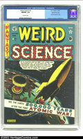 Golden Age (1938-1955):Science Fiction, Weird Science #5 Gaines File pedigree Certificate Missing (EC,1951) CGC NM/MT 9.8 Off-white pages. One of the defining cove...