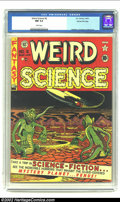 Golden Age (1938-1955):Science Fiction, Weird Science #6 Gaines File pedigree 8/10 (EC, 1951) CGC NM 9.4White pages. Al Feldstein's cover is headlined nicely by th...