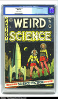 Golden Age (1938-1955):Science Fiction, Weird Science #7 (EC, 1951) CGC NM- 9.2 Off-white to white pages.Al Feldstein creates another masterful science fiction cov...