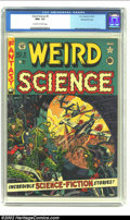 Golden Age (1938-1955):Science Fiction, Weird Science #9 Gaines File pedigree 10/12 (EC, 1951) CGC NM+ 9.6Off-white to white pages. The ninth issue of Weird Scie...