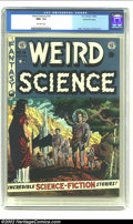 Golden Age (1938-1955):Science Fiction, Weird Science #14 Gaines File pedigree 10/12 (EC, 1952) CGC NM+ 9.6Off-white pages. Wally Wood draws a group of spacemen la...