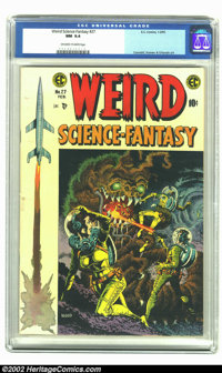 Weird Science-Fantasy #27 (EC, 1955) CGC NM 9.4 Off-white to white pages. Wally Wood's electrifying cover is only the be...