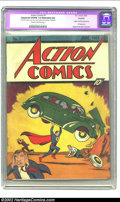 Golden Age (1938-1955):Superhero, Action Comics #1 (DC, 1938) CGC Apparent VG/FN 5.0 Extensive (A) Cream to off-white pages. An economical (well, relatively!)...
