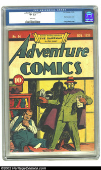 Adventure Comics #44 (DC, 1939) CGC VF- 7.5 White pages. The distinctive style of Creig Flessel was a real treat on seve...