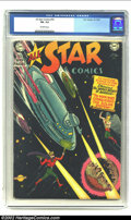 Golden Age (1938-1955):Superhero, All-Star Comics #55 (DC, 1950) CGC FN- 5.5 Off-white pages. This science-fiction themed issue is from the very end of the ru...