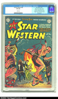 Golden Age (1938-1955):Western, All-Star Western #58 Mile High pedigree (DC, 1951) CGC VF 8.0 White pages. As All Star Comics ended its illustrious run ...