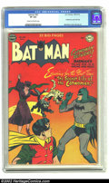 Golden Age (1938-1955):Superhero, Batman #62 (DC, 1950) CGC VF 8.0 Cream to off-white pages. Catwoman figures prominently in this issue and we don't hear anyo...