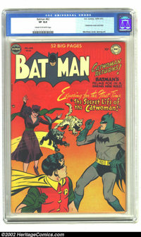 Batman #62 (DC, 1950) CGC VF 8.0 Cream to off-white pages. Catwoman figures prominently in this issue and we don't hear...