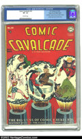Golden Age (1938-1955):Superhero, Comic Cavalcade #29 Mile High pedigree (DC, 1948) CGC VF- 7.5 Off-white pages. Dazzling bright cover colors on this pedigree...