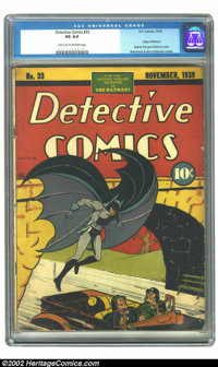 """Detective Comics #33 (DC, 1939) CGC VG 4.0 Light tan to off-white pages. One of the """"key"""" books in the whole r..."""