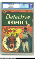 Golden Age (1938-1955):Superhero, Detective Comics #38 Recil Macon pedigree (DC, 1940) CGC FR/GD 1.5 Cream to off-white pages. Robin the Boy Wonder bursts ont...