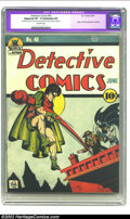 Golden Age (1938-1955):Superhero, Detective Comics #40 (DC, 1940) CGC Apparent VF- 7.5 Extensive (P) Off-white pages. The Joker makes his first cover appearan...