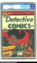 Golden Age (1938-1955):Superhero, Detective Comics #45 (DC, 1940) CGC VF- 7.5 Off-white pages. The Joker makes his first appearance in this title, having firs...