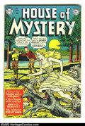 Golden Age (1938-1955):Horror, House of Mystery #1 (DC, 1952) Condition: FN. DC's first horrorcomic was one of a few of the genre to successfully adjust t...